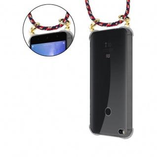 Cadorabo Handy Kette für Xiaomi Mi Max 2 in ROT BLAU GELB - Silikon Necklace Umhänge Hülle mit Gold Ringen, Kordel Band Schnur und abnehmbarem Etui ? Schutzhülle - Vorschau 4