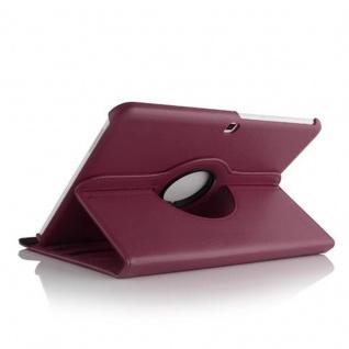 "Cadorabo ! PREMIUM - Samsung Galaxy Tab 4 - 10.1 ZOLL (T530 T535) Schutzhülle mit Standfunktion Drehbar 360 Grad Design "" 360°"" in lila"