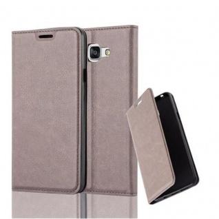 Cadorabo Hülle für Samsung Galaxy A7 2016 in KAFFEE BRAUN - Handyhülle mit Magnetverschluss, Standfunktion und Kartenfach - Case Cover Schutzhülle Etui Tasche Book Klapp Style