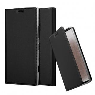 Cadorabo Hülle für Nokia Lumia 1520 in CLASSY SCHWARZ - Handyhülle mit Magnetverschluss, Standfunktion und Kartenfach - Case Cover Schutzhülle Etui Tasche Book Klapp Style