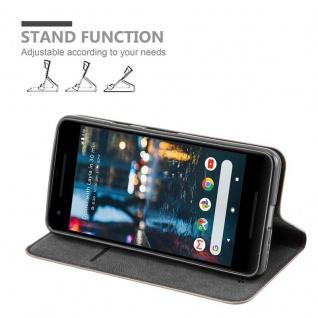 Cadorabo Hülle für Google Pixel 2 in KAFFEE BRAUN - Handyhülle mit Magnetverschluss, Standfunktion und Kartenfach - Case Cover Schutzhülle Etui Tasche Book Klapp Style - Vorschau 3