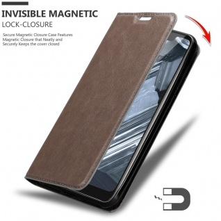 Cadorabo Hülle für Nokia 5.1 PLUS in KAFFEE BRAUN - Handyhülle mit Magnetverschluss, Standfunktion und Kartenfach - Case Cover Schutzhülle Etui Tasche Book Klapp Style - Vorschau 3