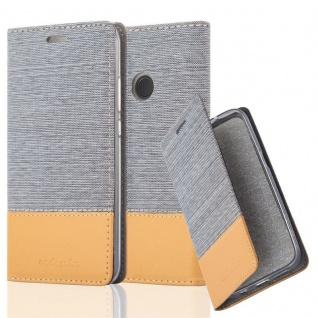 Cadorabo Hülle für Huawei P20 LITE in HELL GRAU BRAUN - Handyhülle mit Magnetverschluss, Standfunktion und Kartenfach - Case Cover Schutzhülle Etui Tasche Book Klapp Style