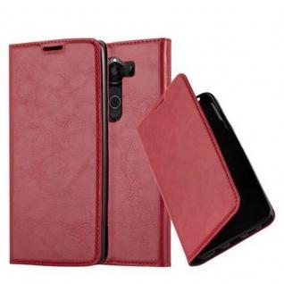 Cadorabo Hülle für LG V10 in APFEL ROT Handyhülle mit Magnetverschluss, Standfunktion und Kartenfach Case Cover Schutzhülle Etui Tasche Book Klapp Style