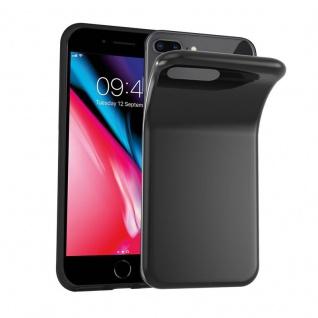Cadorabo Hülle für Apple iPhone 8 PLUS / iPhone 7 PLUS / iPhone 7S PLUS in SCHWARZ Handyhülle aus flexiblem TPU Silikon Silikonhülle Schutzhülle Ultra Slim Soft Back Cover Case Bumper