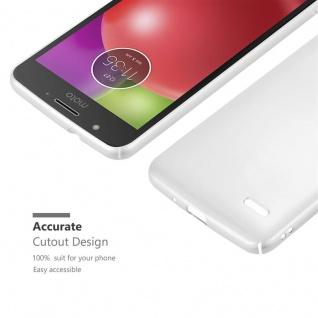 Cadorabo Hülle für Motorola MOTO E4 in METALL SILBER - Hardcase Handyhülle aus Plastik gegen Kratzer und Stöße - Schutzhülle Bumper Ultra Slim Back Case Hard Cover - Vorschau 5