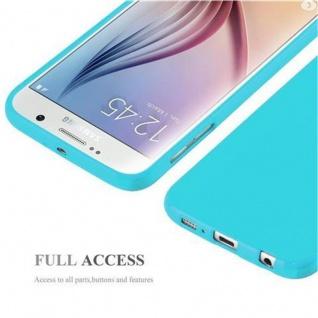 Cadorabo Hülle für Samsung Galaxy S6 in JELLY HELL BLAU ? Handyhülle aus flexiblem TPU Silikon ? Silikonhülle Schutzhülle Ultra Slim Soft Back Cover Case Bumper - Vorschau 5