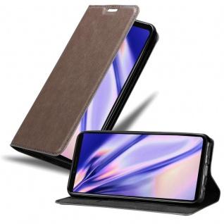 Cadorabo Hülle für Sony Xperia 1 in KAFFEE BRAUN Handyhülle mit Magnetverschluss, Standfunktion und Kartenfach Case Cover Schutzhülle Etui Tasche Book Klapp Style