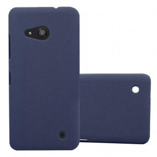 Cadorabo Hülle für Nokia Lumia 550 in FROSTY BLAU - Hardcase Handyhülle aus Plastik gegen Kratzer und Stöße - Schutzhülle Bumper Ultra Slim Back Case Hard Cover