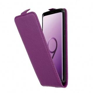 Cadorabo Hülle für Samsung Galaxy S9 in BORDEAUX LILA - Handyhülle im Flip Design aus strukturiertem Kunstleder - Case Cover Schutzhülle Etui Tasche Book Klapp Style