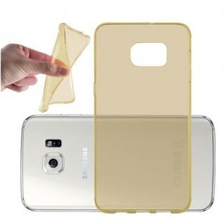 Cadorabo Hülle für Samsung Galaxy S6 EDGE PLUS in TRANSPARENT GOLD - Handyhülle aus flexiblem TPU Silikon - Silikonhülle Schutzhülle Ultra Slim Soft Back Cover Case Bumper