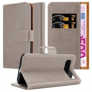 Cadorabo Hülle für Samsung Galaxy S10 in CAPPUCCINO BRAUN Handyhülle mit Magnetverschluss, Standfunktion und Kartenfach Case Cover Schutzhülle Etui Tasche Book Klapp Style