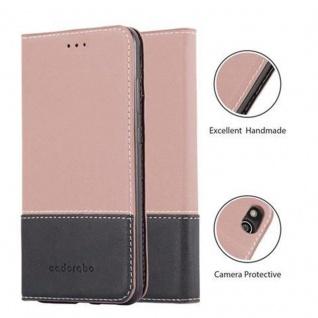 Cadorabo Hülle für Huawei P10 LITE in GOLD SCHWARZ ? Handyhülle mit Magnetverschluss, Standfunktion und Kartenfach ? Case Cover Schutzhülle Etui Tasche Book Klapp Style