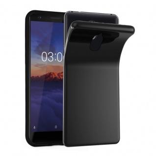 Cadorabo Hülle für Nokia 3.1 2018 in SCHWARZ - Handyhülle aus flexiblem TPU Silikon - Silikonhülle Schutzhülle Ultra Slim Soft Back Cover Case Bumper