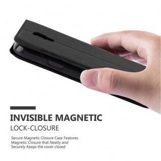 Cadorabo Hülle für Samsung Galaxy S4 ACTIVE in NACHT SCHWARZ - Handyhülle mit Magnetverschluss, Standfunktion und Kartenfach - Case Cover Schutzhülle Etui Tasche Book Klapp Style - Vorschau 4