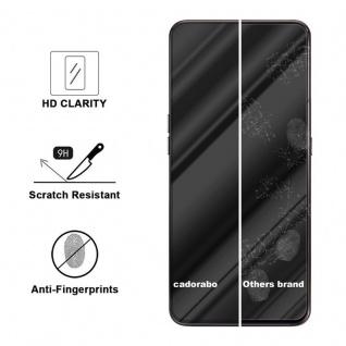Cadorabo Vollbild Panzer Folie für Samsung Galaxy A80 / A90 - Schutzfolie in TRANSPARENT mit SCHWARZ - Gehärtetes (Tempered) Display-Schutzglas in 9H Härte mit 3D Touch Kompatibilität - Vorschau 3