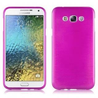 Cadorabo Hülle für Samsung Galaxy E7 2015 in PINK - Handyhülle aus flexiblem TPU Silikon - Silikonhülle Schutzhülle Ultra Slim Soft Back Cover Case Bumper