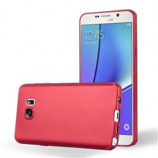 Cadorabo Hülle für Samsung Galaxy NOTE 5 in METALLIC ROT - Handyhülle aus flexiblem TPU Silikon - Silikonhülle Schutzhülle Ultra Slim Soft Back Cover Case Bumper