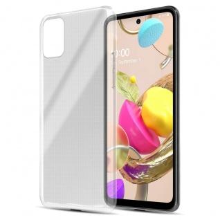 Cadorabo Hülle kompatibel mit LG K42 in VOLL TRANSPARENT Handyhülle aus flexiblem TPU Silikon Silikonhülle Schutzhülle Ultra Slim Soft Back Cover Case Bumper
