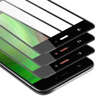 Cadorabo 3x Vollbild Panzer Folie für Huawei NOVA Schutzfolie in TRANSPARENT mit SCHWARZ 3er Pack Gehärtetes (Tempered) Display-Schutzglas in 9H Härte mit 3D Touch