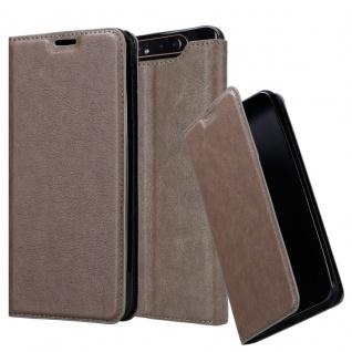 Cadorabo Hülle für Samsung Galaxy A80 in KAFFEE BRAUN - Handyhülle mit Magnetverschluss, Standfunktion und Kartenfach - Case Cover Schutzhülle Etui Tasche Book Klapp Style