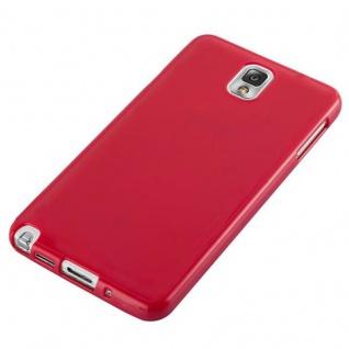 Cadorabo Hülle für Samsung Galaxy NOTE 3 in JELLY ROT ? Handyhülle aus flexiblem TPU Silikon ? Silikonhülle Schutzhülle Ultra Slim Soft Back Cover Case Bumper - Vorschau 3