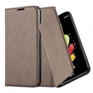 Cadorabo Hülle für LG STYLUS 2 in KAFFEE BRAUN - Handyhülle mit Magnetverschluss, Standfunktion und Kartenfach - Case Cover Schutzhülle Etui Tasche Book Klapp Style