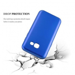 Cadorabo Hülle für Samsung Galaxy A3 2017 in METALLIC BLAU - Handyhülle aus flexiblem TPU Silikon - Silikonhülle Schutzhülle Ultra Slim Soft Back Cover Case Bumper - Vorschau 3