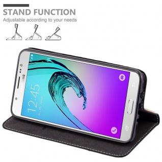 Cadorabo Hülle für Samsung Galaxy J7 2016 in SCHWARZ BRAUN - Handyhülle mit Magnetverschluss, Standfunktion und Kartenfach - Case Cover Schutzhülle Etui Tasche Book Klapp Style - Vorschau 4
