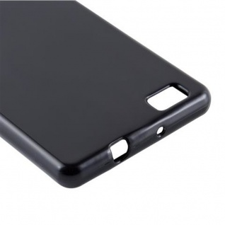 Cadorabo Hülle für Huawei P8 LITE 2015 in SCHWARZ - Handyhülle aus flexiblem TPU Silikon - Silikonhülle Schutzhülle Ultra Slim Soft Back Cover Case Bumper - Vorschau 4