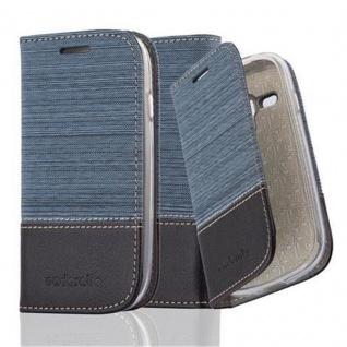 Cadorabo Hülle für Samsung Galaxy S3 MINI in DUNKEL BLAU SCHWARZ - Handyhülle mit Magnetverschluss, Standfunktion und Kartenfach - Case Cover Schutzhülle Etui Tasche Book Klapp Style