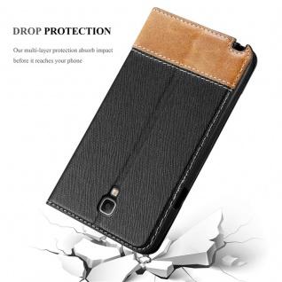 Cadorabo Hülle für Samsung Galaxy NOTE 3 NEO in SCHWARZ BRAUN ? Handyhülle mit Magnetverschluss, Standfunktion und Kartenfach ? Case Cover Schutzhülle Etui Tasche Book Klapp Style - Vorschau 5