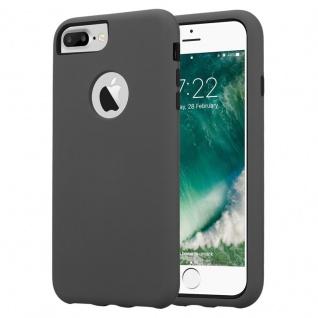 Cadorabo Hülle für Apple iPhone 7 PLUS / 7S PLUS / 8 PLUS in QUARZ GRAU ? Hybrid Handyhülle mit TPU Silikon Innenseite und 2teiliger Kunststoff Außenseite ? Schutzhülle Hybrid Hardcase Back Case