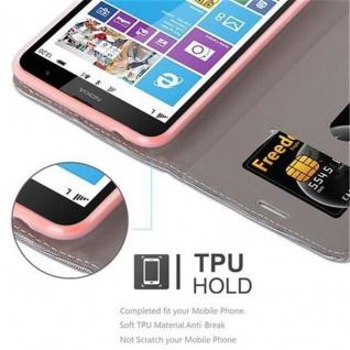 Cadorabo Hülle für Nokia Lumia 1320 in HELL GRAU BRAUN - Handyhülle mit Magnetverschluss, Standfunktion und Kartenfach - Case Cover Schutzhülle Etui Tasche Book Klapp Style - Vorschau 3