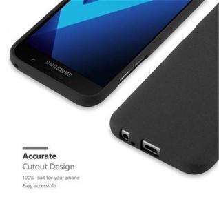 Cadorabo Hülle für Samsung Galaxy A3 2017 in FROST SCHWARZ - Handyhülle aus flexiblem TPU Silikon - Silikonhülle Schutzhülle Ultra Slim Soft Back Cover Case Bumper - Vorschau 2