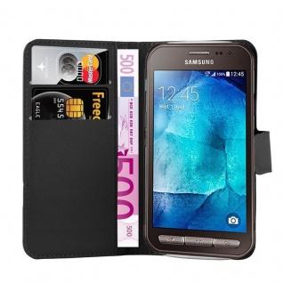 Cadorabo Hülle für Samsung Galaxy XCover 3 in PHANTOM SCHWARZ - Handyhülle mit Magnetverschluss, Standfunktion und Kartenfach - Case Cover Schutzhülle Etui Tasche Book Klapp Style