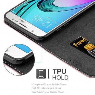 Cadorabo Hülle für Samsung Galaxy J7 2016 in GOLD SCHWARZ ? Handyhülle mit Magnetverschluss, Standfunktion und Kartenfach ? Case Cover Schutzhülle Etui Tasche Book Klapp Style - Vorschau 3