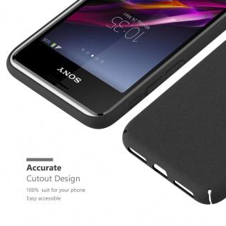 Cadorabo Hülle für Sony Xperia E1 in FROSTY SCHWARZ - Hardcase Handyhülle aus Plastik gegen Kratzer und Stöße - Schutzhülle Bumper Ultra Slim Back Case Hard Cover - Vorschau 5