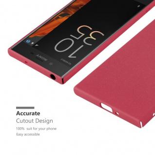 Cadorabo Hülle für Sony Xperia XZ / XZs in FROSTY ROT - Hardcase Handyhülle aus Plastik gegen Kratzer und Stöße - Schutzhülle Bumper Ultra Slim Back Case Hard Cover - Vorschau 5