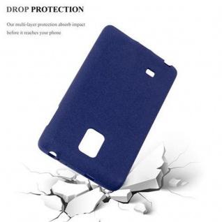 Cadorabo Hülle für Samsung Galaxy NOTE EDGE in FROST DUNKEL BLAU - Handyhülle aus flexiblem TPU Silikon - Silikonhülle Schutzhülle Ultra Slim Soft Back Cover Case Bumper - Vorschau 4