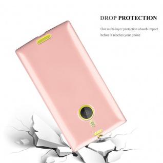 Cadorabo Hülle für Nokia Lumia 1520 in METALLIC ROSÉ GOLD - Handyhülle aus flexiblem TPU Silikon - Silikonhülle Schutzhülle Ultra Slim Soft Back Cover Case Bumper - Vorschau 3