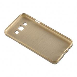 Cadorabo Hülle für Samsung Galaxy A3 2015 in GOLD - Handyhülle aus flexiblem TPU Silikon - Silikonhülle Schutzhülle Ultra Slim Soft Back Cover Case Bumper - Vorschau 3