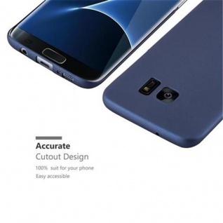 Cadorabo Hülle für Samsung Galaxy S7 EDGE in METALL BLAU - Hardcase Handyhülle aus Plastik gegen Kratzer und Stöße - Schutzhülle Bumper Ultra Slim Back Case Hard Cover - Vorschau 3