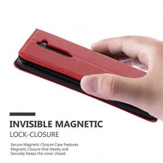 Cadorabo Hülle für LG G3 STYLUS in APFEL ROT Handyhülle mit Magnetverschluss, Standfunktion und Kartenfach Case Cover Schutzhülle Etui Tasche Book Klapp Style - Vorschau 4