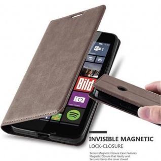 Cadorabo Hülle für Nokia Lumia 640 in KAFFEE BRAUN - Handyhülle mit Magnetverschluss, Standfunktion und Kartenfach - Case Cover Schutzhülle Etui Tasche Book Klapp Style