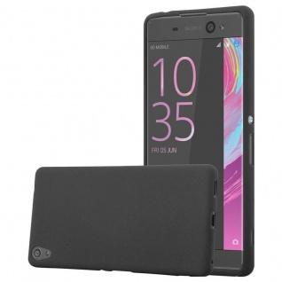 Cadorabo Hülle für Sony Xperia XA ULTRA in FROST SCHWARZ - Handyhülle aus flexiblem TPU Silikon - Silikonhülle Schutzhülle Ultra Slim Soft Back Cover Case Bumper