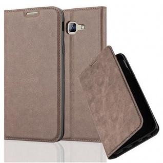 Cadorabo Hülle für Samsung Galaxy A8 2016 in KAFFEE BRAUN - Handyhülle mit Magnetverschluss, Standfunktion und Kartenfach - Case Cover Schutzhülle Etui Tasche Book Klapp Style
