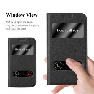 Cadorabo Hülle für Samsung Galaxy XCOVER 3 in KOMETEN SCHWARZ ? Handyhülle mit Magnetverschluss, Standfunktion und 2 Sichtfenstern ? Case Cover Schutzhülle Etui Tasche Book Klapp Style - Vorschau 2