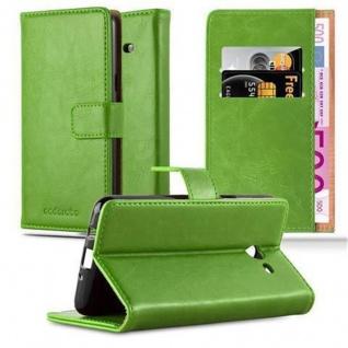 Cadorabo Hülle für Samsung Galaxy J5 2017 US Version in GRAS GRÜN ? Handyhülle mit Magnetverschluss, Standfunktion und Kartenfach ? Case Cover Schutzhülle Etui Tasche Book Klapp Style - Vorschau 1