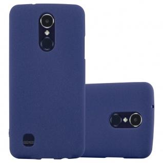 Cadorabo Hülle für LG K8 2017 US Version in FROST DUNKEL BLAU - Handyhülle aus flexiblem TPU Silikon - Silikonhülle Schutzhülle Ultra Slim Soft Back Cover Case Bumper